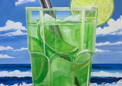 """Beach Lime"" 2016 (100x80cm)"