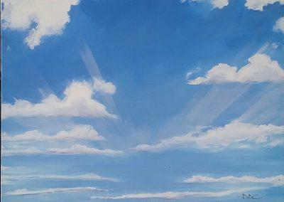 """""""Rays"""" 2015 (80x100cm)"""