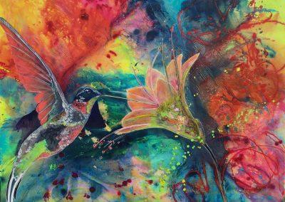 """""""Colibri"""" 2014 (110x120cm)"""